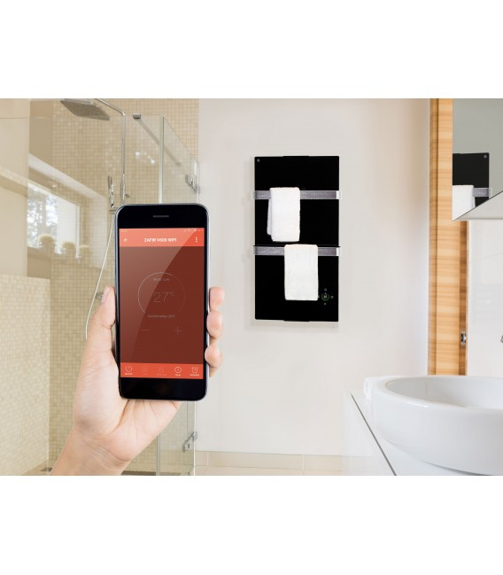 Electric Heated Towel Glass Panel with Thermostat and App Wifi controler